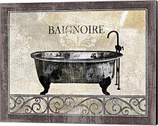 Bath Silhouette I by NBL Studio Canvas Art