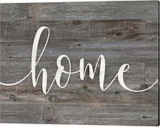 Rustic Home Script by Jo Moulton Canvas Art