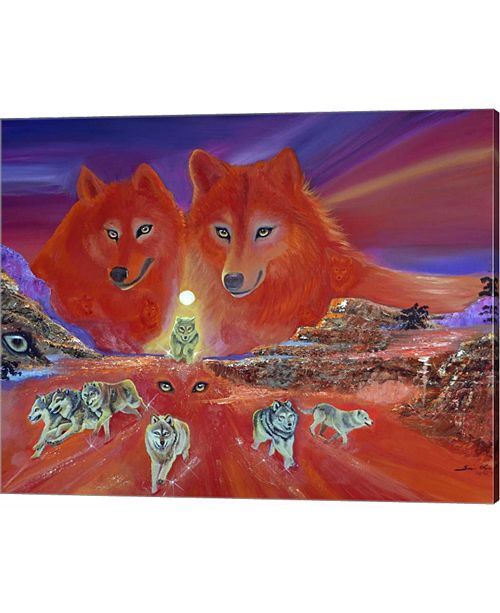 Metaverse The Energy Of The Wolves By Sue Clyne Canvas Art