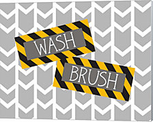 Construction Wash Brush By Tamara Robinson Canvas Art