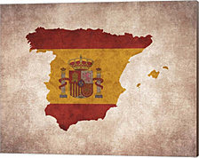Map With Flag Overlay Spain By Color Me Happy Canvas Art