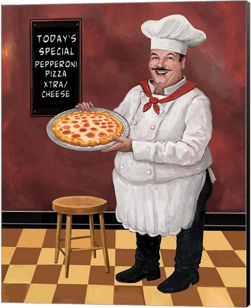Metaverse Pizza Chef Master By Frank Harris Canvas Art