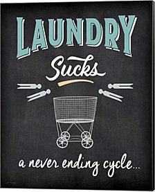 Laundry Sucks By Jo Moulton Canvas Art