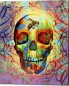 Bee Skull by Greg Simanson Canvas Art