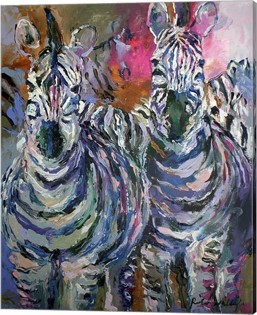 Metaverse Zebra By Richard Wallich Canvas Art