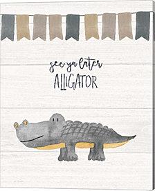 Later Alligator by Jo Moulton Canvas Art