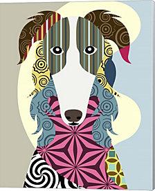 Borzoi Russian Wolfhound by Lanre Adefioye Canvas Art