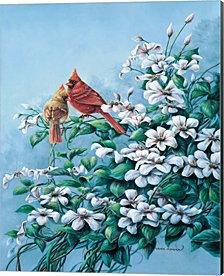 Cardinals by Wanda Mumm Canvas Art