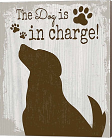 The Dog is in Charge by ND Art & Design Canvas Art