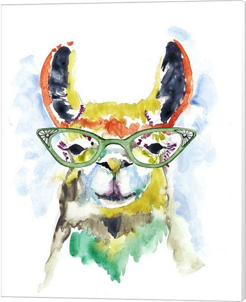 Metaverse Smarty-Pants Llama By Jennifer Goldberger Canvas Art