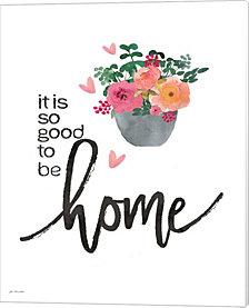 Home (Colorful Flowers) by Jo Moulton Canvas Art