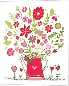 Valentines Flowers Iii By Farida Zaman Canvas Art