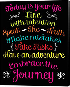 Embrace the Journey by Louise Carey Canvas Art