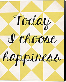Today I Chose Happiness 3 by Louise Carey Canvas Art