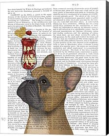 French Bulldog Ice Cream By Fab Funky Canvas Art