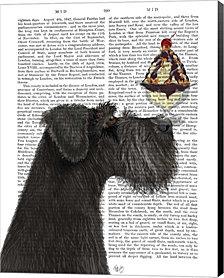Schnauzer, Black, Ice Cream by Fab Funky Canvas Art