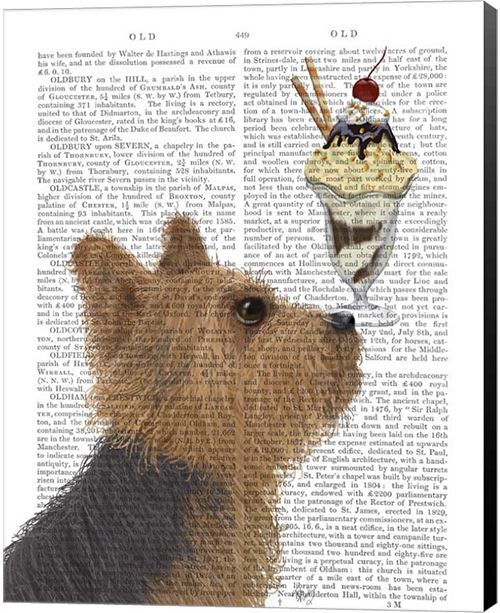 Metaverse Yorkshire Terrier Ice Cream By Fab Funky Canvas Art