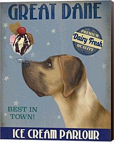 Great Dane, Tan, Ice Cream By Fab Funky Canvas Art