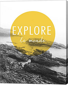Explore the World v.2 French by Laura Marshall Canvas Art