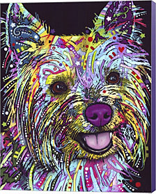 Yorkie By Dean Russo Canvas Art