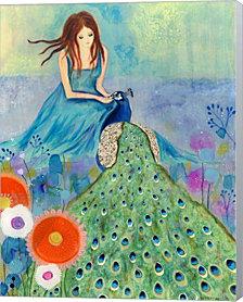 Peacock Garden By Wyanne Canvas Art