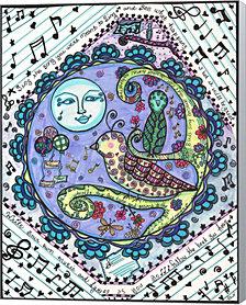 Bird Song by Dawn Collins Canvas Art