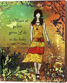 Heart At Peace By Janelle Nichol Canvas Art