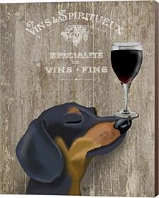 Dog Au Vin Dachshund By Fab Funky Canvas Art