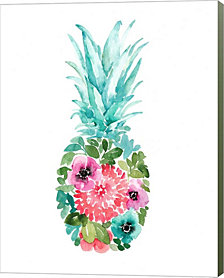 Floral Pineapple I By Elise Engh Canvas Art