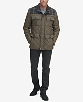 2ce13fd42fc9c Cole Haan Mixed Media Quilted Jacket