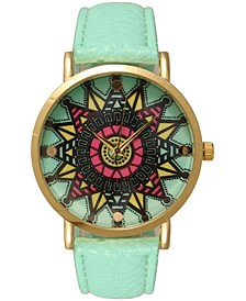 Mandala Leather Strap Watch