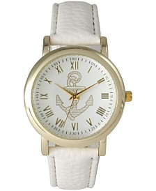 Anchor Leather Strap Watch