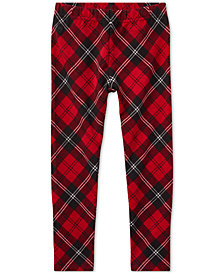 Polo Ralph Lauren Little Girls Tartan Jersey Leggings