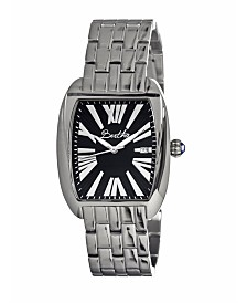 Bertha Quartz Anastasia Collection Silver And Black Stainless Steel Watch 36Mm