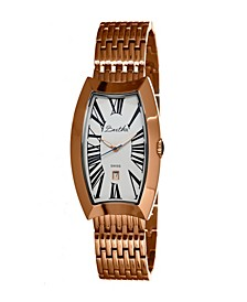 Quartz Laura Collection Rose Gold And White Stainless Steel Watch 31Mm