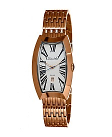 Bertha Quartz Laura Collection Rose Gold And White Stainless Steel Watch 31Mm