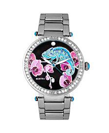Bertha Quartz Camilla Collection Silver Stainless Steel Watch 38Mm