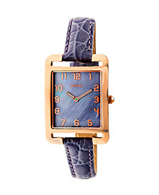 Bertha Quartz Marisol Collection Lavender Leather Watch 21Mm