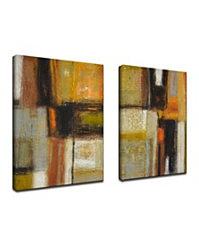 'Down to Earth I/II' 2 Piece Abstract Canvas Wall Art Set, 30x20""