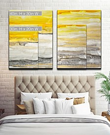 'Latest Sunset I/II' 2 Piece Abstract Canvas Wall Art Set Collection