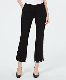 MICHAEL Michael Kors Grommet-Cuff Cropped Pants, in Regular and Petite Sizes