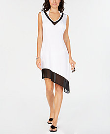 Calvin Klein Asymmetrical-Hem Cover-Up