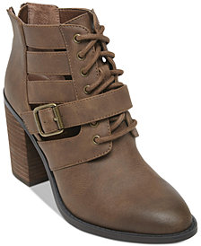 Madden Girl Marv Chopout Booties
