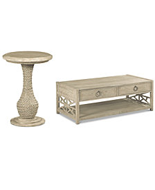 Finley Table Furniture 2-Pc. Set (Coffee Table & Round End Table)
