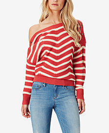 Jessica Simpson Juniors' Mei Striped Boat-Neck Sweater