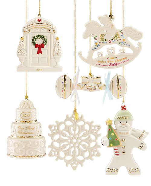 Celebrate life's special memories with the Lenox 2018 Annual Ornament  collection. From Santa to snowflakes, this year's selection includes  vintage-inspired ... - Lenox 2018 Annual Ornaments - All Holiday Lane - Home - Macy's