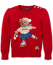 Polo Ralph Lauren Toddler Girls Holiday Bear Sweater