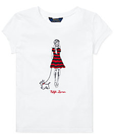 Polo Ralph Lauren Big Girls Embroidered Cotton T-Shirt
