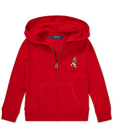 Polo Ralph Lauren Little Girls Full-Zip Ice Skating Bear Hoodie
