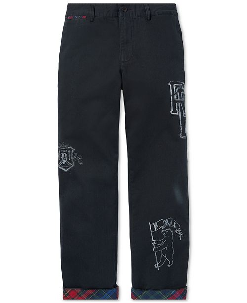 13378e1889725 Polo Ralph Lauren Big Boys Slim Fit Stretch Cotton Chino Pants ...